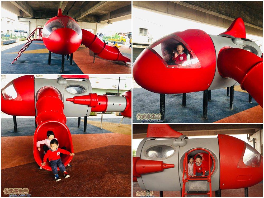 桃園國2橋下兒童冒險公園紅飛機兒童遊戲場