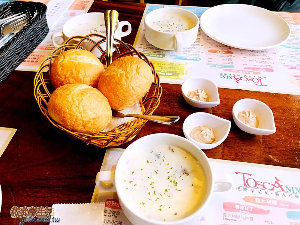 新竹托斯卡尼尼竹科店麵包+濃湯