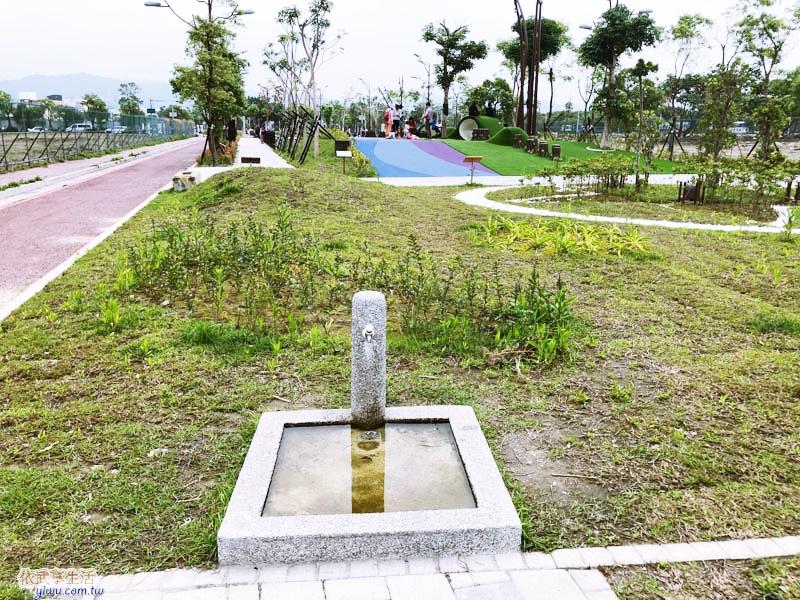 竹東台泥公園水龍頭位置