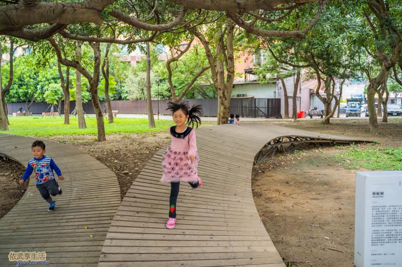 新竹綠園道簇綻橋地景設施