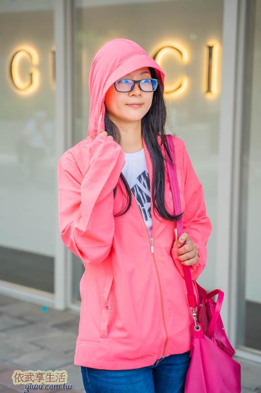 UV100涼感輕量連帽女外套
