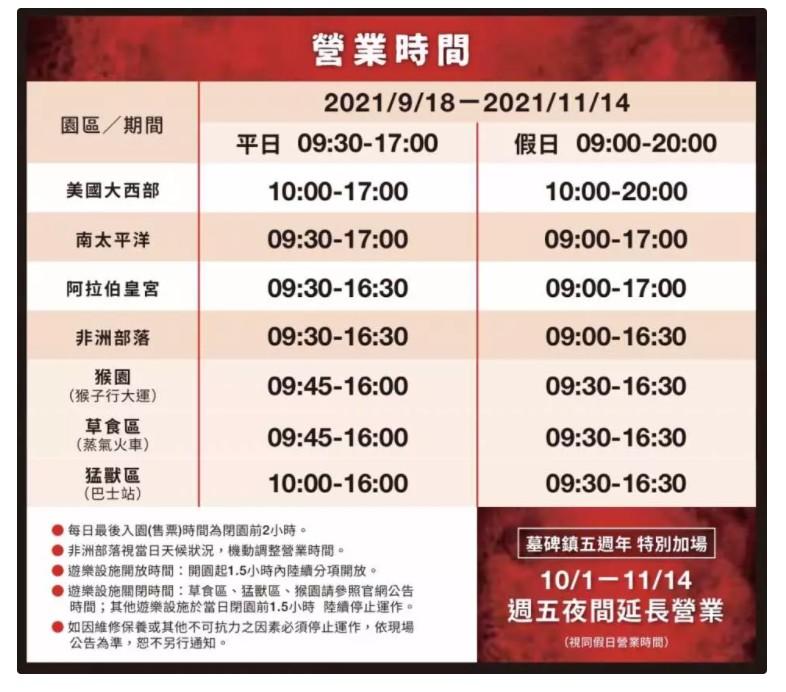六福村營業時間